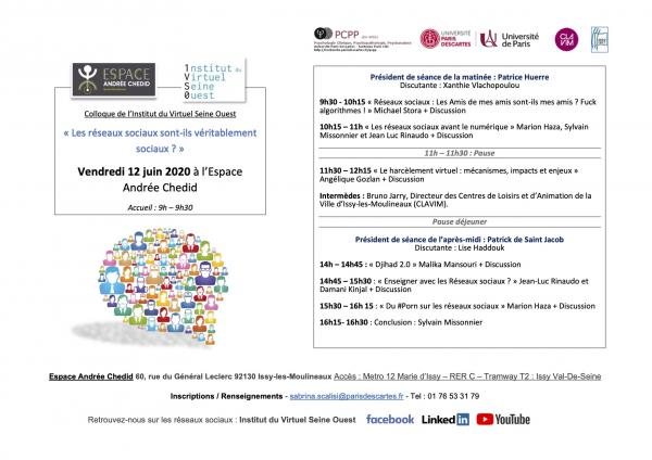 Affiche Colloque IVS0 - 2020