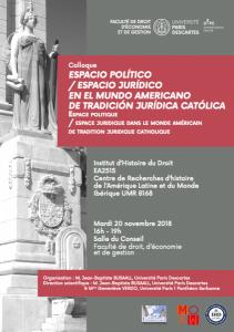 20 nov 2018_Espace politique / espace juridique dans le monde américain de tradition juridique catholique