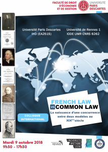 9 oct 2018_French Law vs Common Law, acte II_affiche