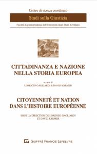 Couverture - Citoyenneté et nation dans l'histoire européenne - actes colloque mai 2018