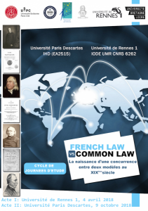 French law vs Common law_Rennes-Paris_avril-octobre 2018_Affiche