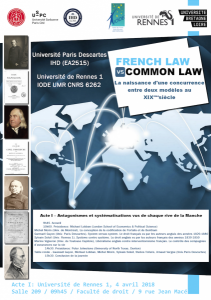 "IHD_Affiche ""French Law vs Common Law"" acte 1_4 avril 2018"