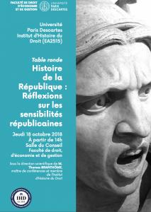 IHD_Affiche Sensibilités républicaines_Table ronde 18 octobre 2018